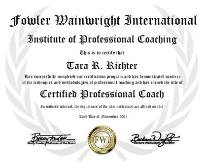 Coaching Certificate