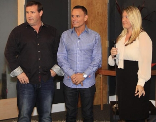"Tara Richter interviews Anthony Amos & Kevin Harrington on their new book, ""How to Catch a Shark."""