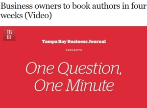 Buisness Owners to Authors in 4 Weeks