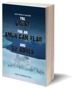 Gifts From a Glacier: The Quest for an American Flag and 52 Souls - https://www.amazon.com/Gifts-Glacier-Quest-American-Souls/dp/1945812133
